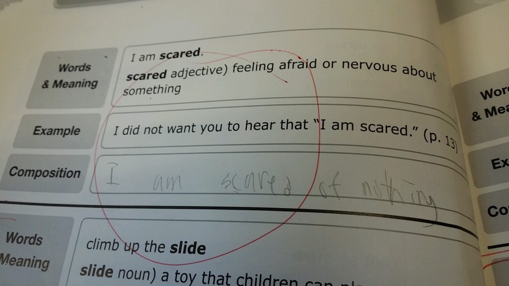 """I am scared of nothing""...which is scary"