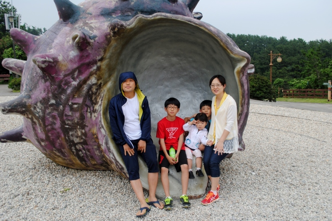 Korean family who asked us to take a picture for them