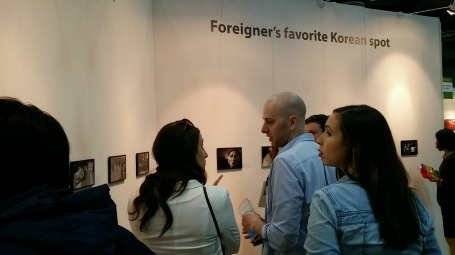 The time my friend's photo was featured in an Art Gallery in Seoul