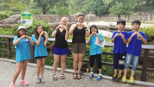The sweet kids we met at the zoo who didn't mind us boozing it up