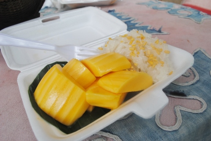 The best mango sticky rice in all of Chiang Mai; boy was it