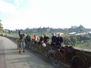 Let's ride our bikes 12 km uphill to Impruneta!