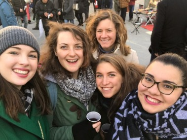These gals! Mulled wine!